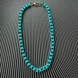 H&M Turquoise Chain Link Necklace